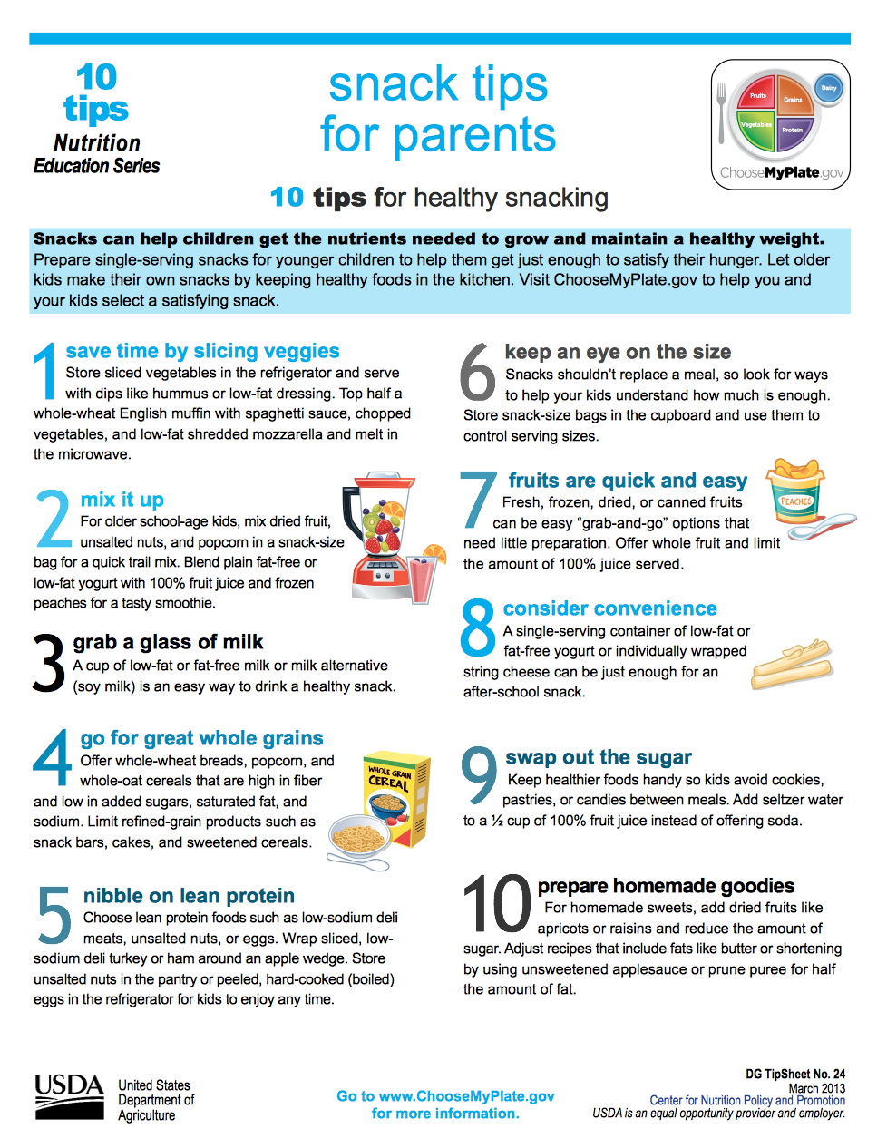 Snack Tips For Parents