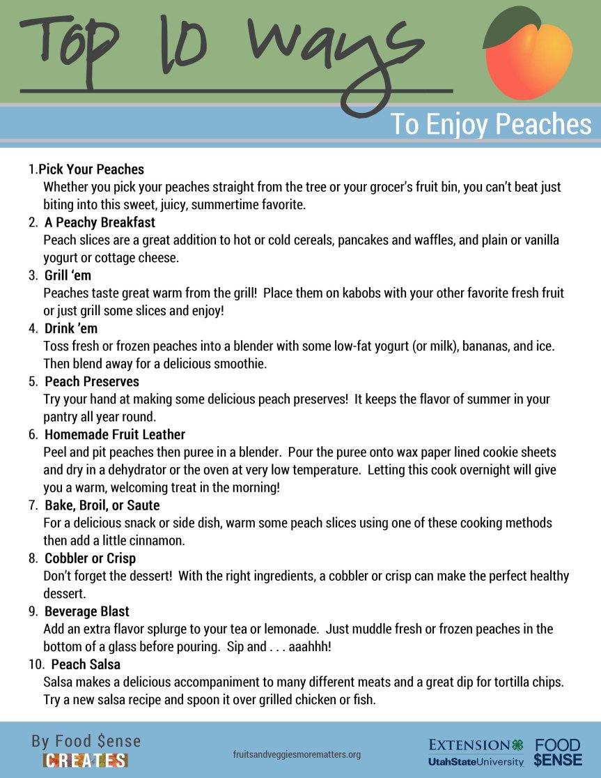 Top 10 Peaches